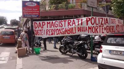 ROMA: due report del presidio tenutosi davanti al DAP il 13 MAGGIO 2016