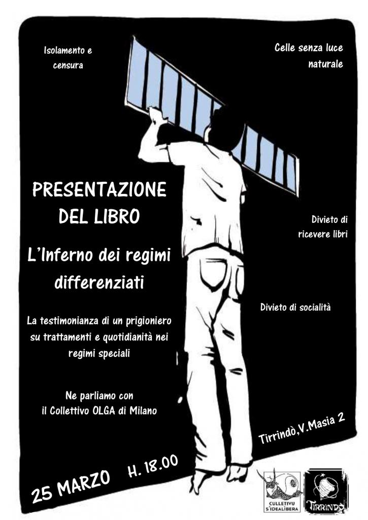 """Sassari 25 marzo 2019 h.18 presentazione del libro """"L'inferno dei regimi differenziati"""" di Alessio Attanasio"""