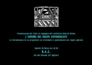 B.A.Z. di Cagliari venerdì 29 marzo 2019 h. 18,00 presentazione del libro di Alessio Attanasio